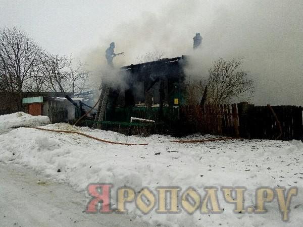 пожар,Вязники,Козловка,Мстера,1 марта 2017