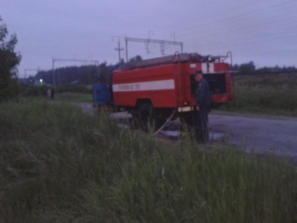 пожар станция Сарыево улица Школьная