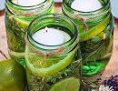Как сделать свечи от комаров своими руками