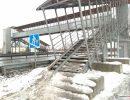 пешеходный мост через трассу М-7,Вязники,посёлок Первомайский,