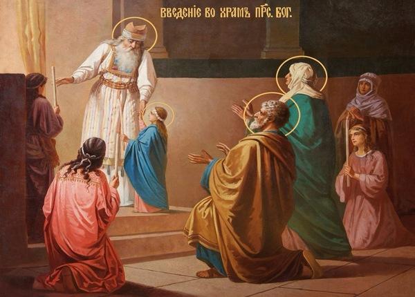 4 декабря,Введение Пресвятой Богородицы,