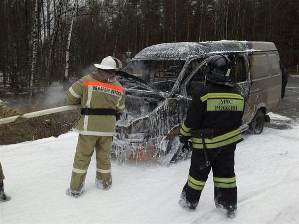 пожар,сгорела Газель,Вязниковский район,посёлок Центральный,Пролетарий,18 января 2018 года,