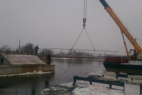 Понтонный мост в Вязниках сведён