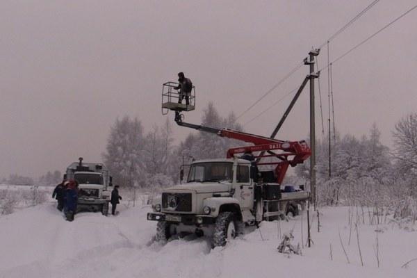 Снежный апокалипсис оставил в регионе без электричества 158 населённых пунктов