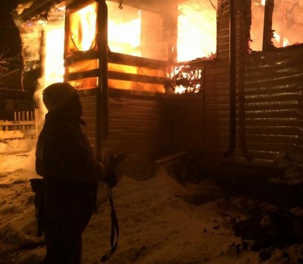 пожар,Вязниковский район,Сергиевы Горки,улица Муромская,25 февраля 2018 года,