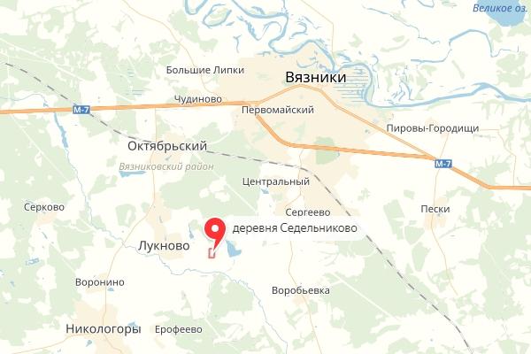 деревня Седельниково,Вязниковский район,карта,