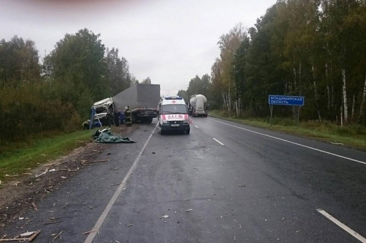 Смертельное лобовое столкновение на границе Московской и Владимирской областей