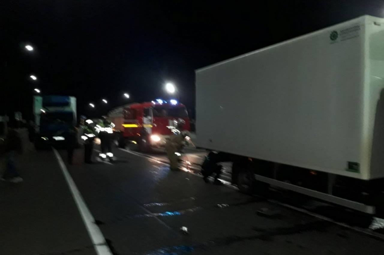 Смертельное столкновение грузовиков на трассе