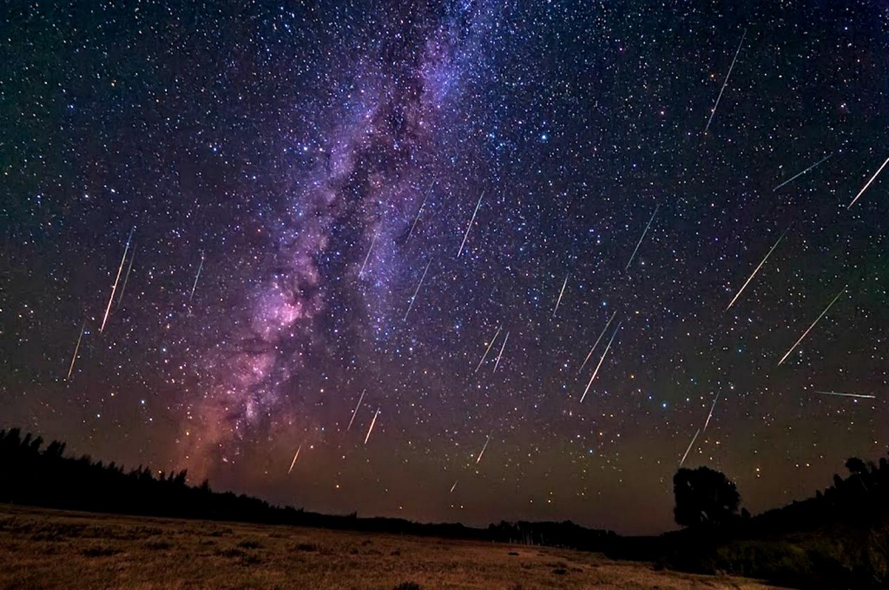 Звездопад Дракониады в ночь с 8 на 9 октября 2018 года