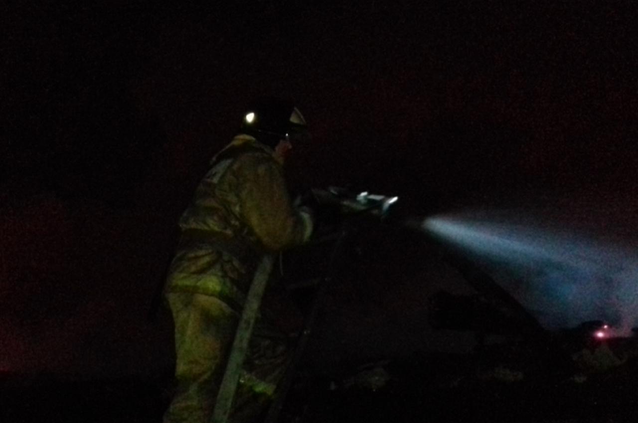 В Гороховце пожар тушили 8 человек