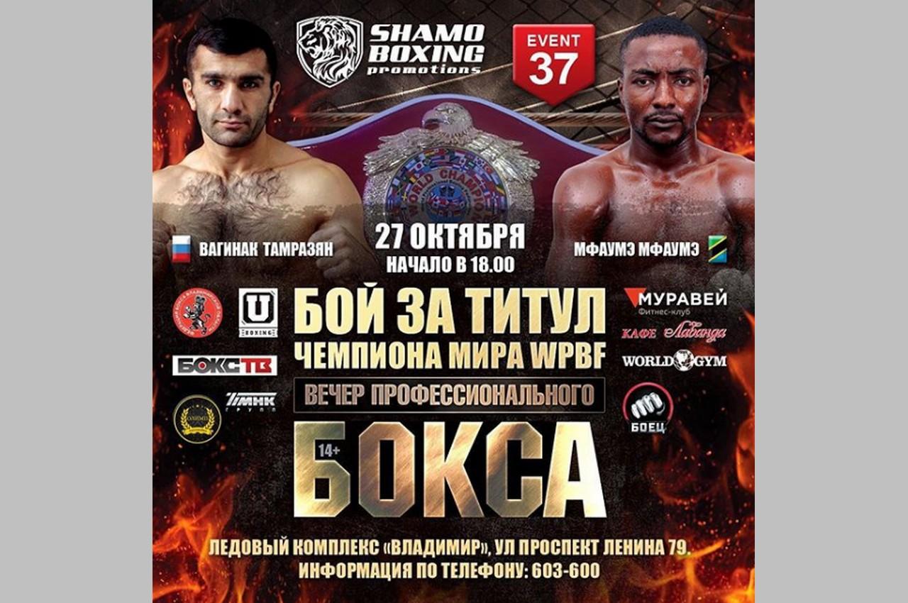 Во Владимирской области пройдёт бой за титул чемпиона мира по боксу