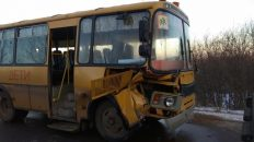 Во Владимирской области школьный автобус попал в ДТП. Есть пострадавшие