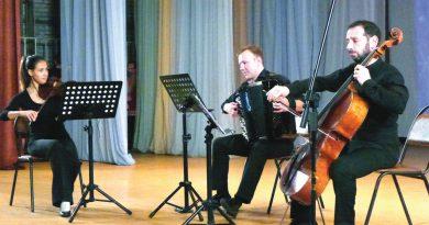 Виолончель, баян и скрипка