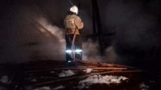 В Вязниках сгорел дачный дом