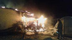 Вечером сгорела баня