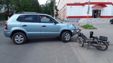 Photo of Кроссовер протаранил мопед