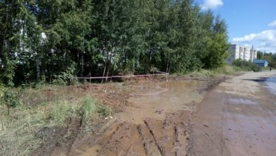 Photo of В Вязниках из-за прорыва трубы затопило улицу