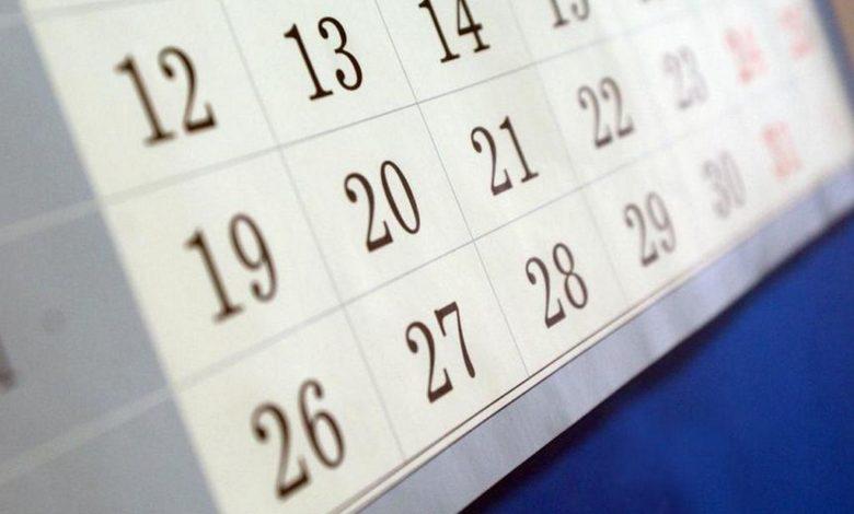 календарь,
