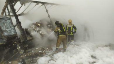 Photo of Видео: На трассе после столкновения с бензовозом сгорели 2 большегруза