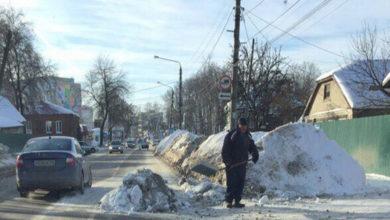 Photo of За выброс снега на дорогу будут штрафовать