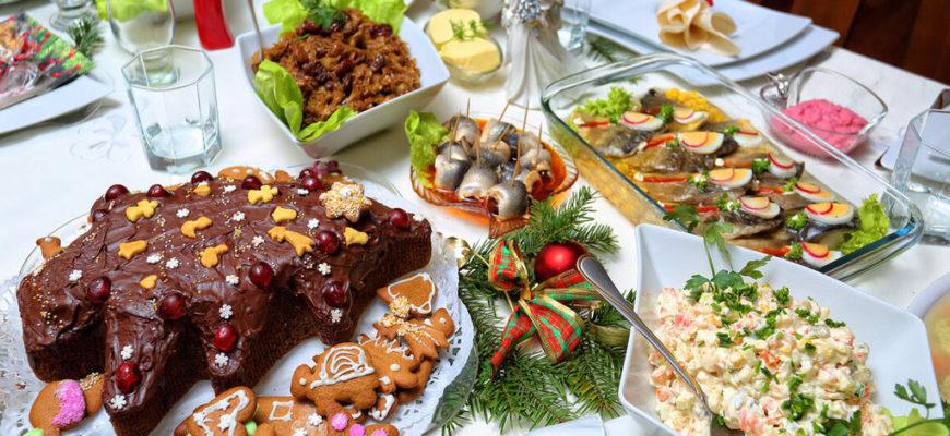 блюда новогоднего стола,новогодний стол,