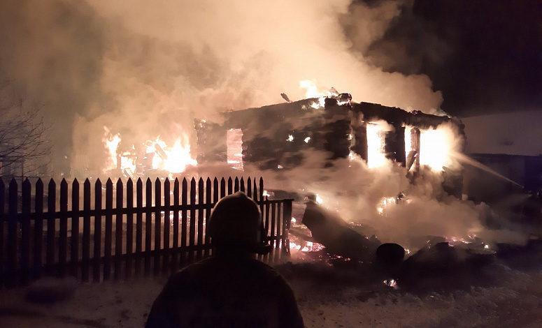 На пожаре в частном жилом доме погибла женщина