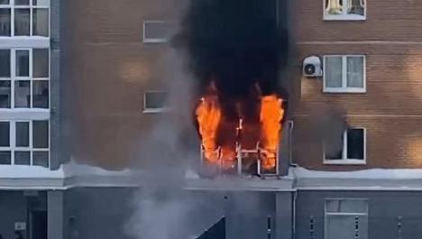 пожар Казань,