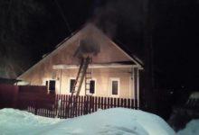 Photo of Пожар в жилом доме тушили 8 человек
