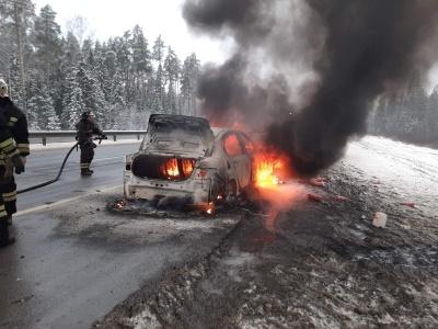 пожар трасса М-7 Судогодский район,