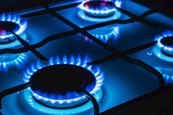 газовая плита,газ,синее пламя газовой плиты,