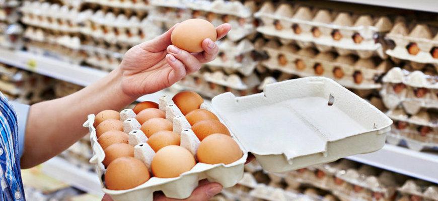 яйца, яйца куриные, куриные яйца в упаковке, яйца куриные в магазине,
