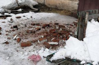 Вязники снег с кирпичами улица Кутузова 15 марта 2021,
