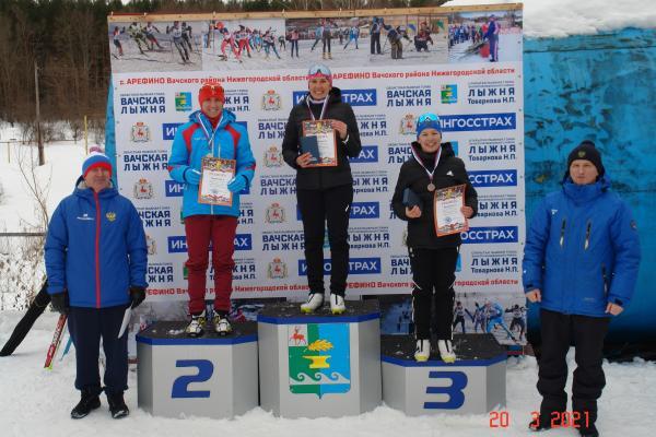 лыжные гонки 20.03.2021 Арефино Вачский район,