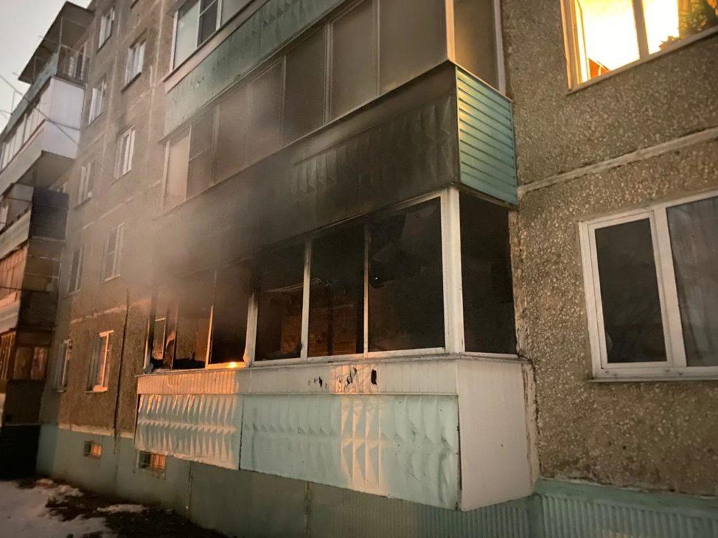 пожар Александров 03.03.2021,