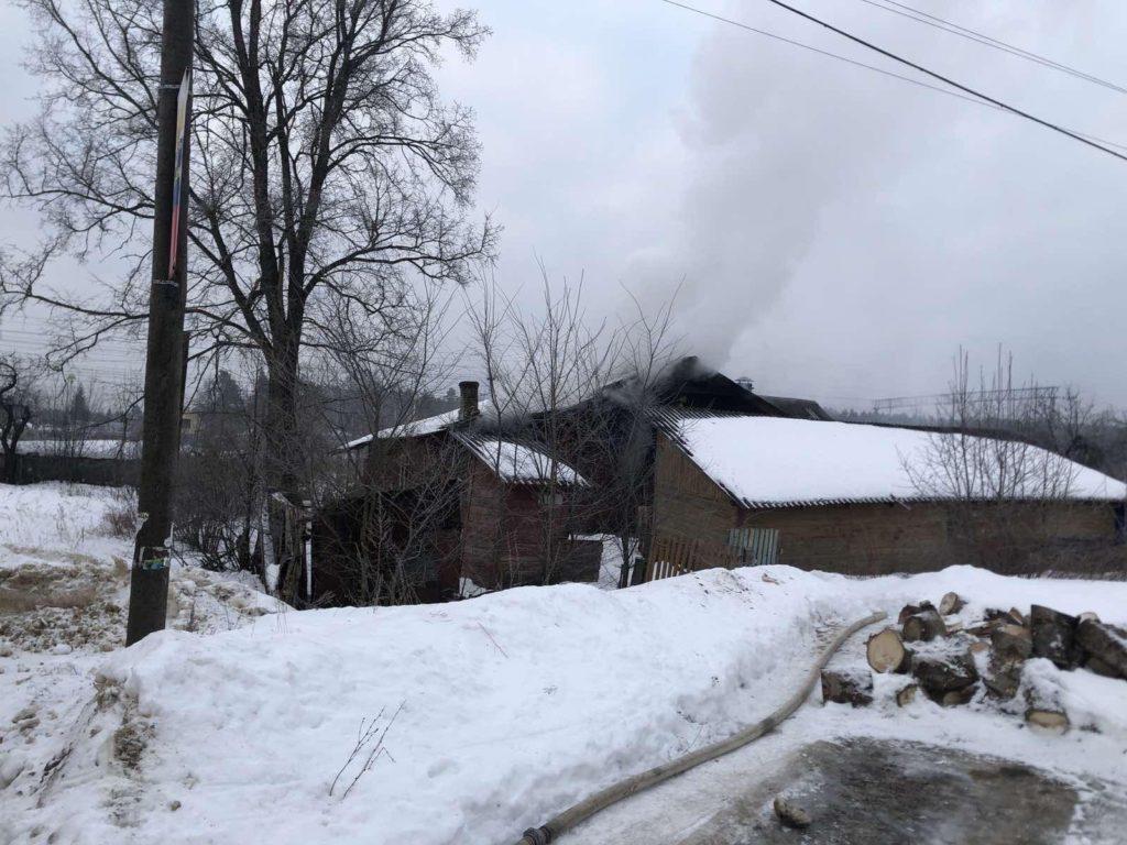 пожар Болдино Петушинский район 1 марта 2021